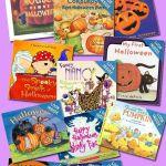 infographic of Halloween books for preschoolers