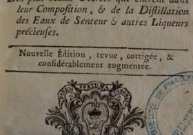 Le Parfumeur royal (1761) : des idées à prendre