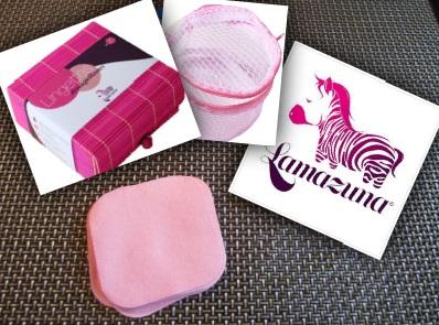 Les lingettes démaquillantes lavables Lamazuna
