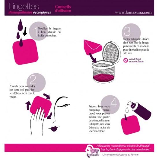 Comment utiliser les lingettes démaquillantes lavables Lamazuna... en images