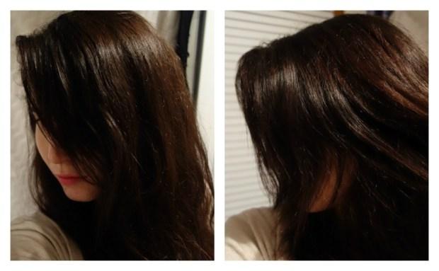 Après... des cheveux plus lumineux, plus forts et des cheveux blancs fondus dans la masse