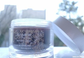 Gommage soyeux au savon noir Argane Galénic