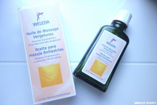 weleda huile grossesse anti-vergetures