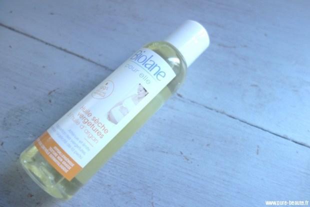 biolane huile sèche vergeture huile d'argan