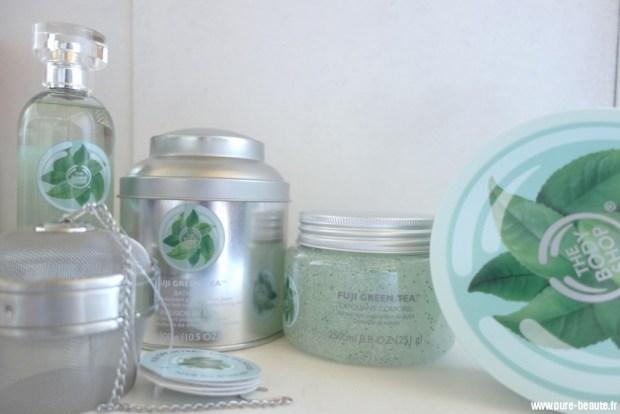 gamme fuji green tea the body shop