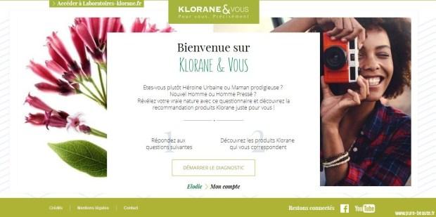 klorane et vous page d'accueil