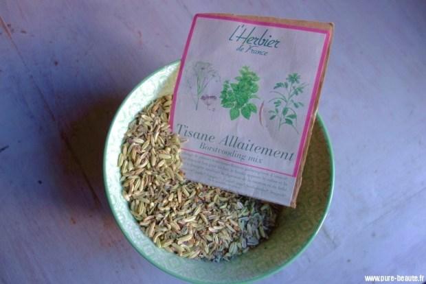 tisane allaitement l'herbier de France