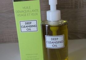 Deep Cleansing oil, le démaquillage à l'huile