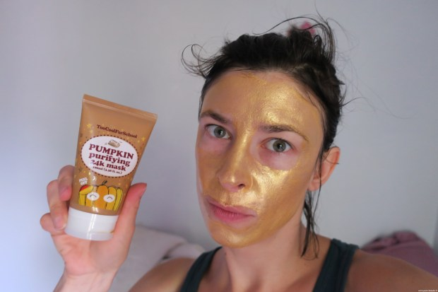 Citrouille party Pumpkin purifying mask Test