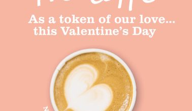 Free coffee this Valentine's Day