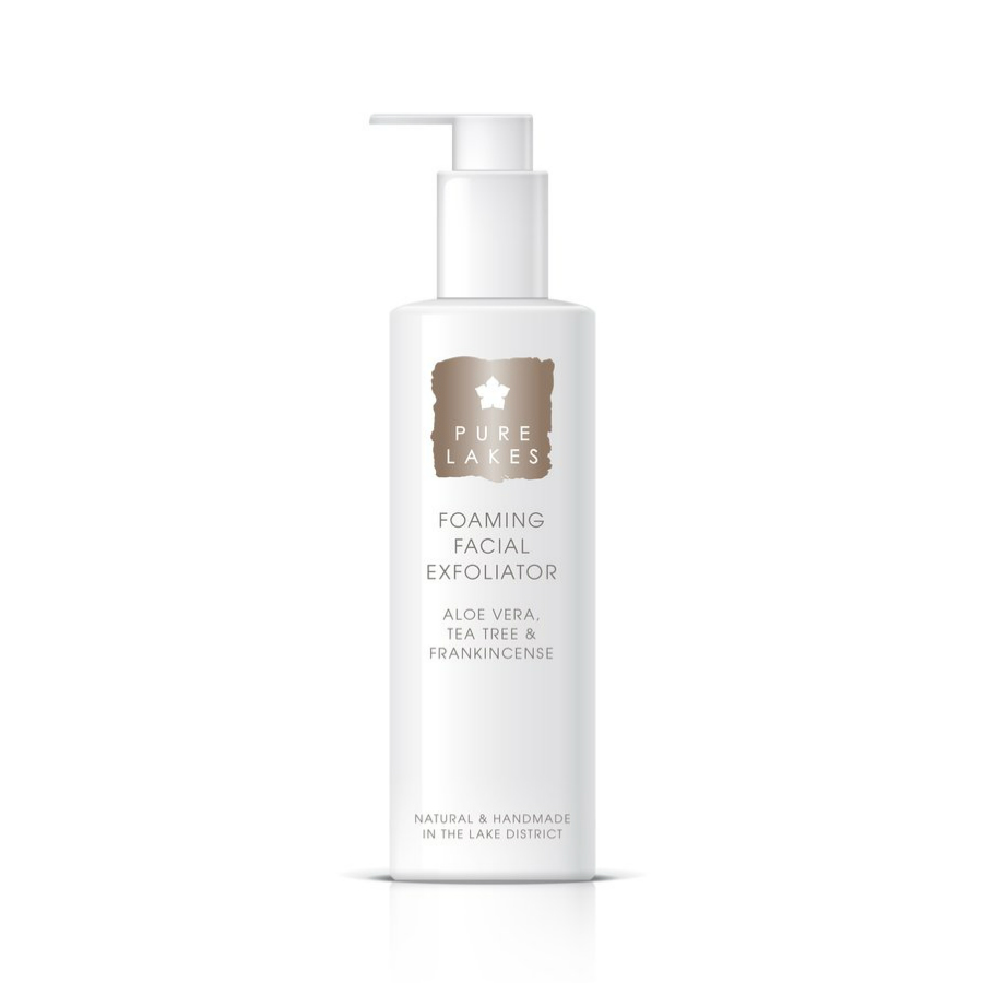 Pure Lakes Aloe Vera, Tea Tree & Frankincense Foaming Facial Exfoliator