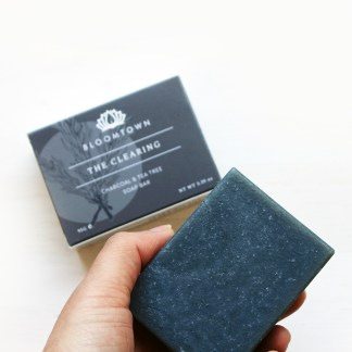 Bloomtown Black Clay and Tea Tree Soap