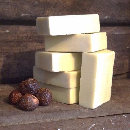 Living Naturally Unscented Castile Olive Oil Soapnut Soap