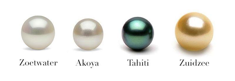 Verschillende soorten parels