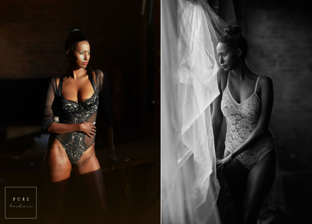 African American Chicago boudoir session