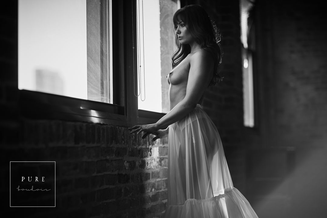 chicago boudoir black and white portrait studio - Natural Light Boudoir Photography - Chicago