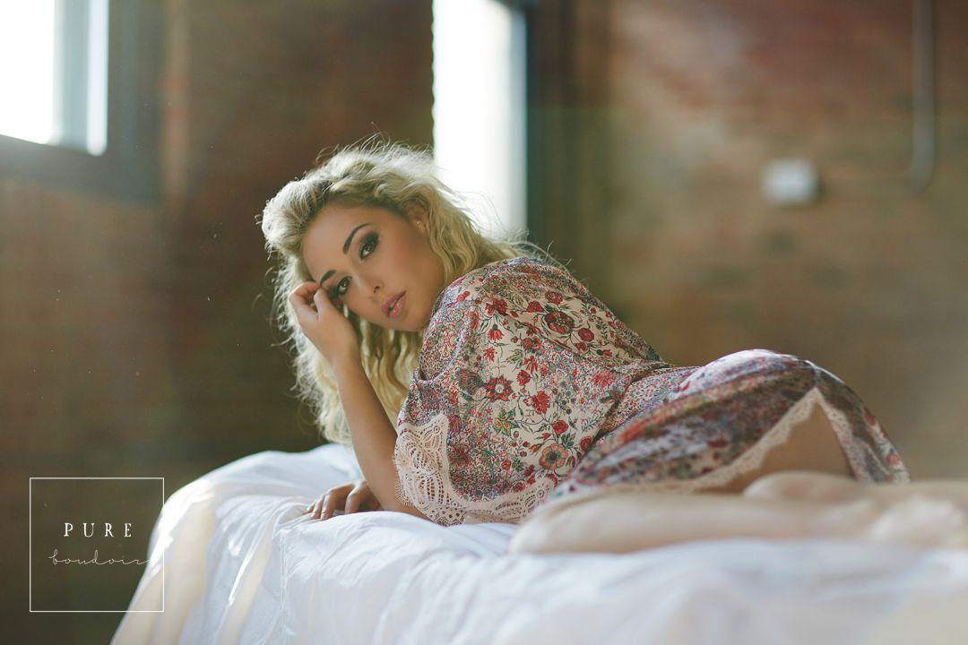 natural light boudoir studio photography