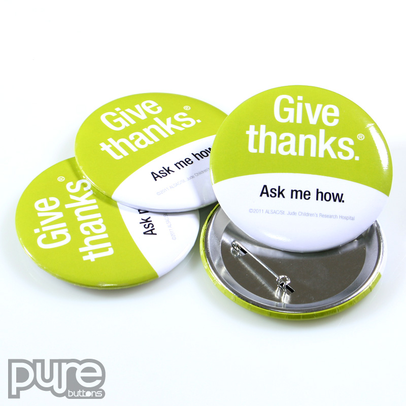 Charity Buttons Non Profit Button Samples By PureButtons
