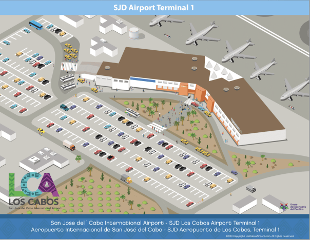 Cabo Airport Terminal 1 Map