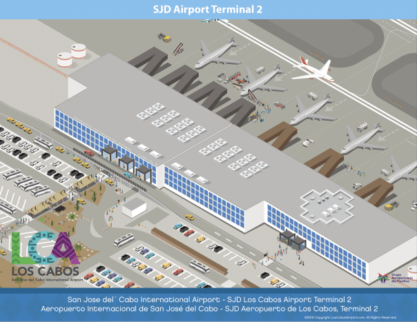 Cabo Airport Terminal 2 Map