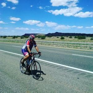 Cycling I-40 near ABQ