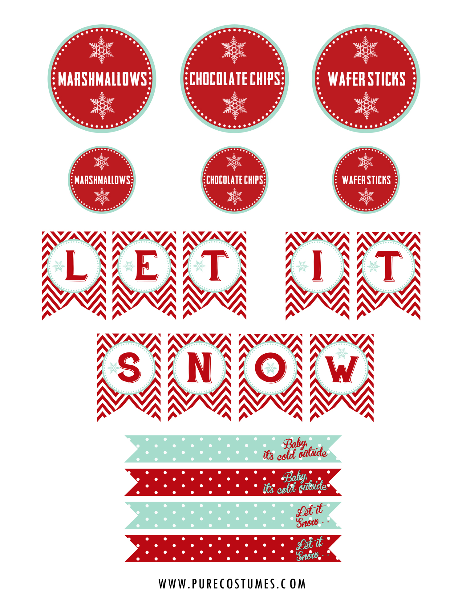 How To Style A Hot Chocolate Bar Plus Free Printables