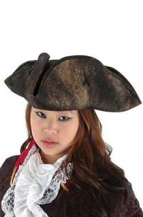 Scallywag Pirate Hat (Black)