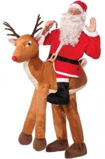 Santa Ride-A-Reindeer Adult Costume