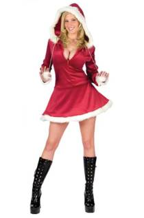Sexy Hooded Mrs Santa Adult Costume