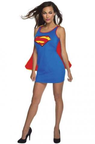 Supergirl Tank Dress Adult Costume
