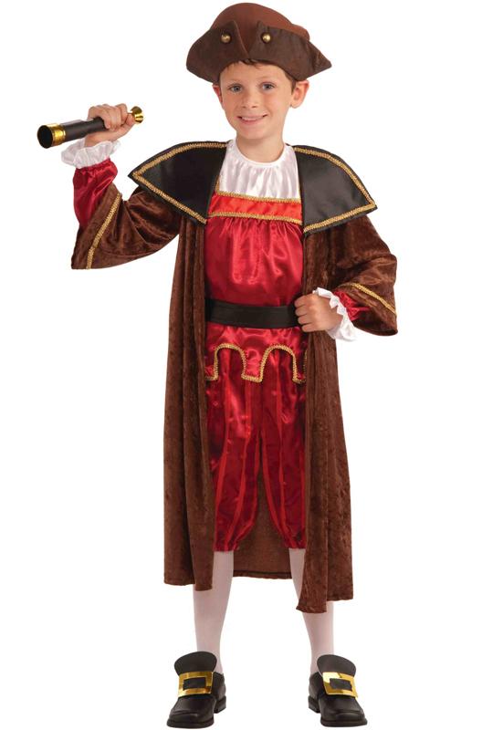 Christopher Columbus Child Costume M Purecostumes Com