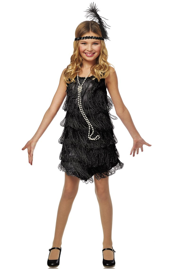 Black Flapper Child Costume - PureCostumes.com