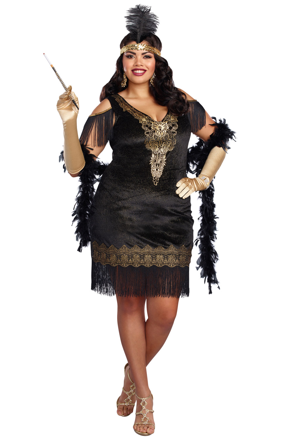 Swanky Flapper Plus Size Costume