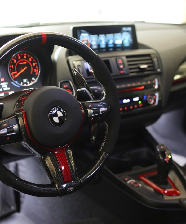 M140i interior carbon red