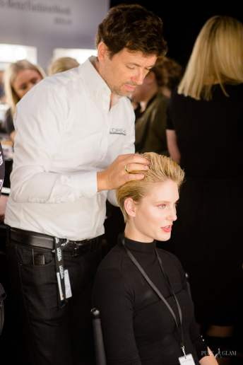 Fashionweek Berlin - minx by Eva Lutz - Blick hinter die Kulissen - Backstage - Franziska Knuppe, Rebecca Mir, Red Carpet Event, Stars und VIPs, Vanessa Pur, Selfies, Aftershow, RTL, Sat1, Video