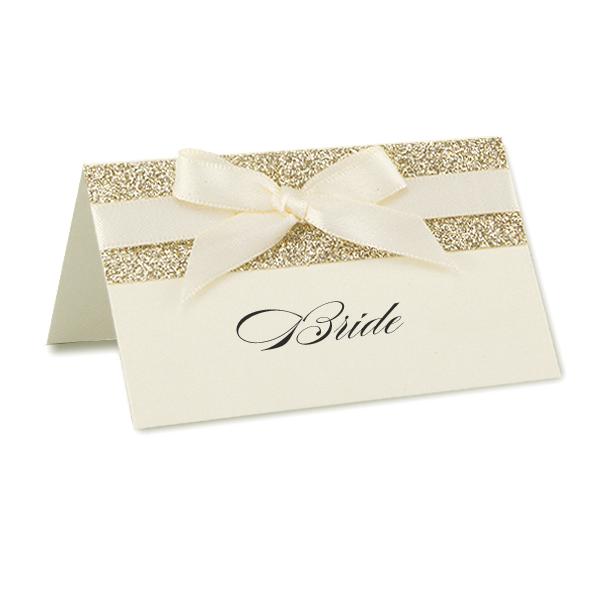 Iris With Glitter Place Card Pure Invitation Wedding Invites