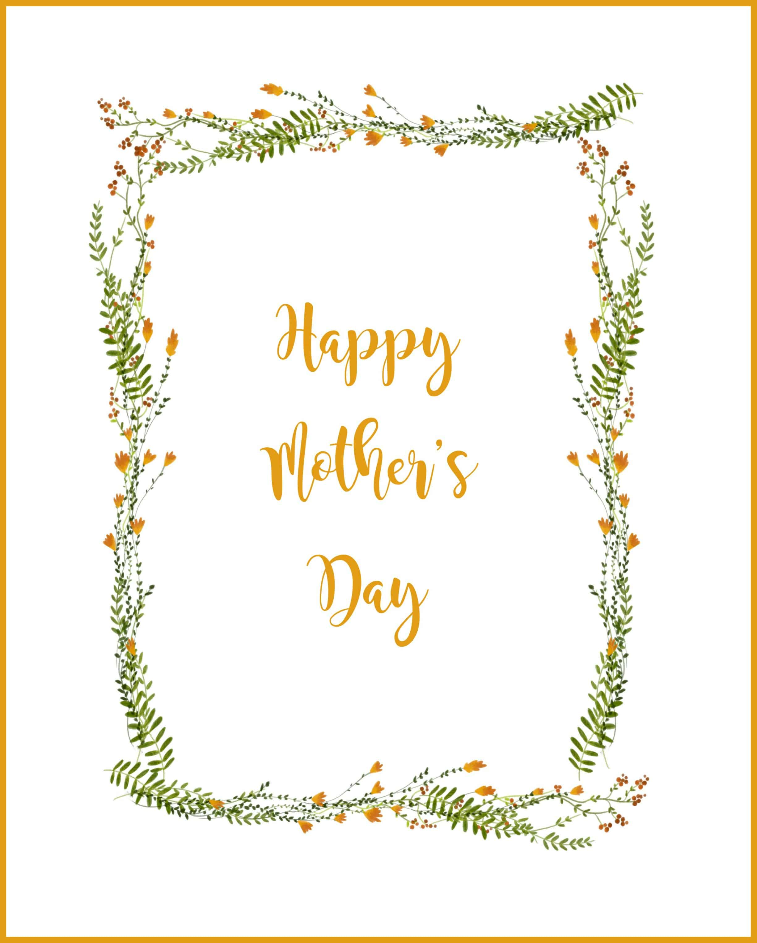 Happy Mother S Day Printable Card