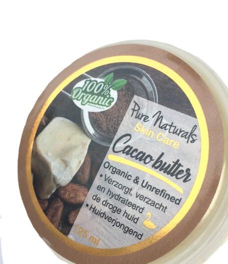 cacaobutter biologisch ongerafineerd huidverzorging