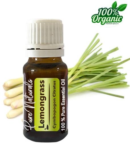 Lemongras essentiële olie - organic - biologisch - pure naturals