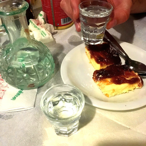 after dinner: raki and dessert