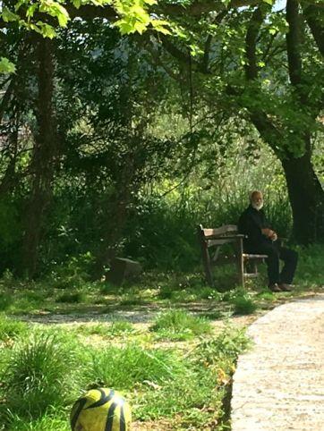 cretan man in park