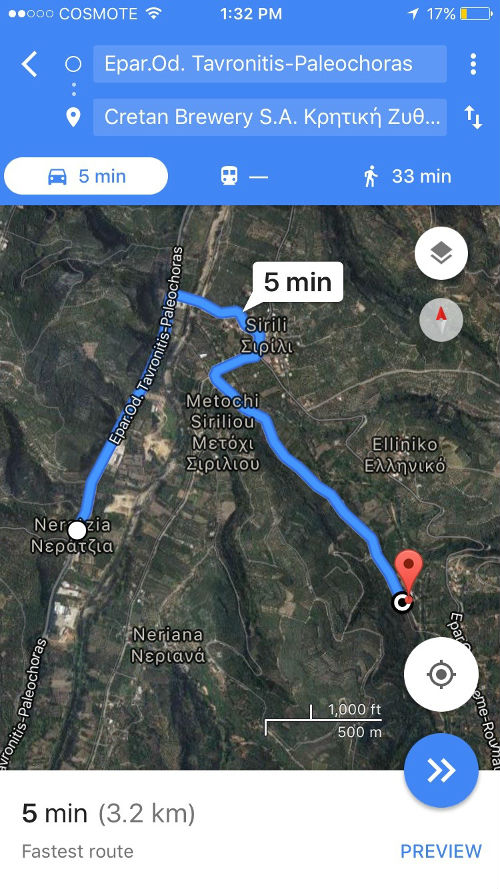 directions to Charma Brewery