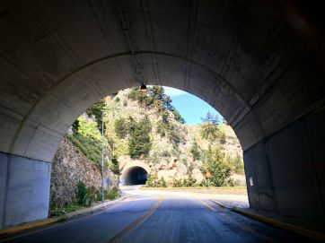 joining tunnels in Crete
