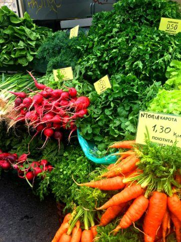organic veggies in Greece