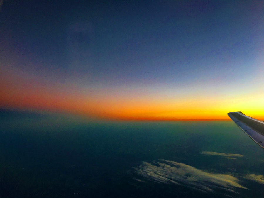 Sunset by Air Travel