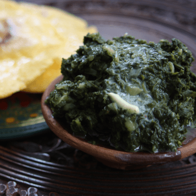 Saag from the spicy plant-based sachet meal pack