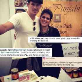 Lee Ryan buys Pure Punjabi Meal Box sachets for meal prep