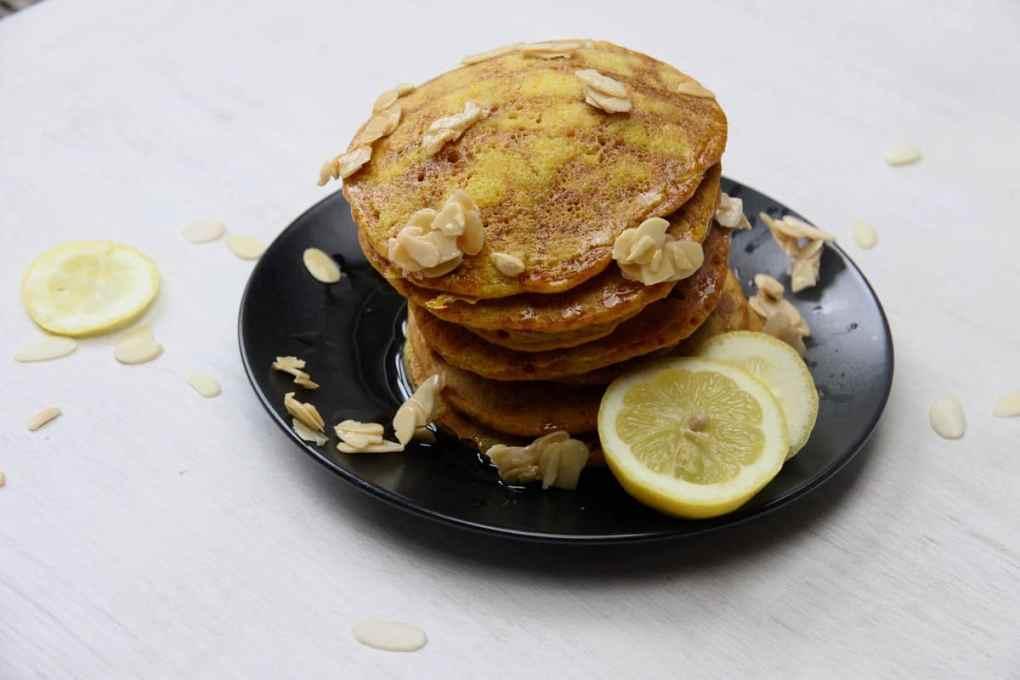 Pancake day recipes vegan vegetarian turmeric lemon juice Turmeric & vanilla pancakes with agave syrup and lemon juice