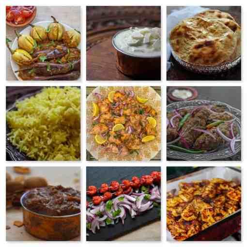 The Pure Punjabi Indian BBQ meal kit box dishes