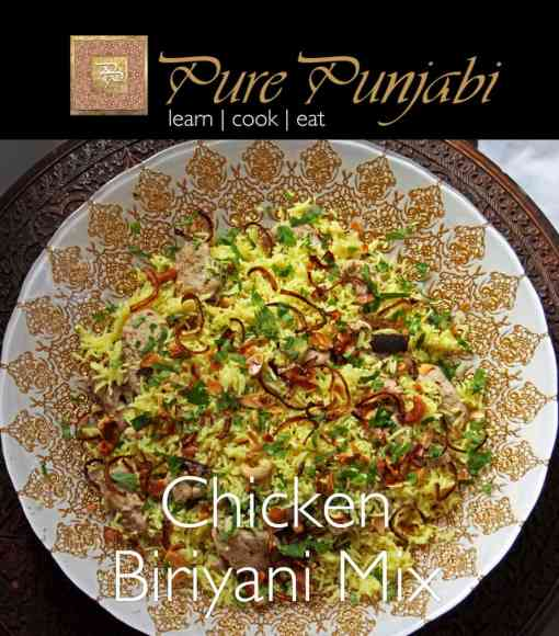 Pure Punjabi Chicken Biriyani Mix, Indian meal kits